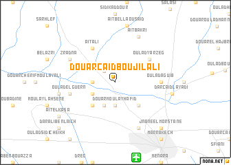 map of Douar Caïd Bou Jilali