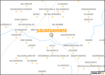 map of Douar Dahmane