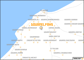 map of Douar el Fahs