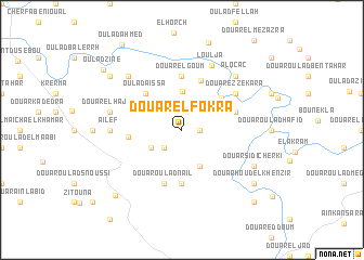 map of Douar el Fokra