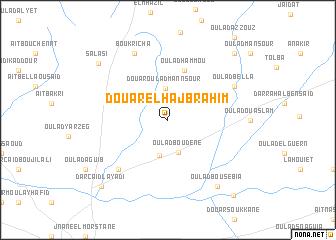 map of Douar el Haj Brahim