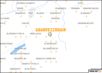 map of Douar ez Zaouia