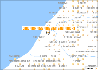 map of Douar Hassane Ben Sidi Amoki