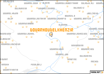 map of Douar Houd el Khenzir