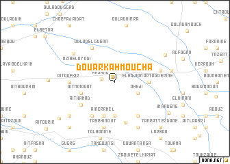 map of Douar Kahmoucha