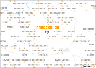 map of Douar Kalaa
