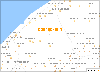 map of Douar Khama
