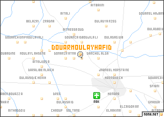 map of Douar Moulay Hafid