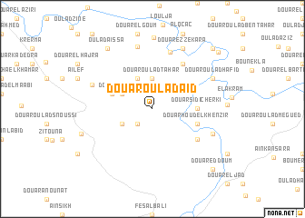 map of Douar Oulad Aïd