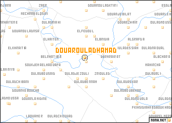 map of Douar Oulad Hamad