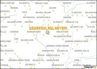 map of Douar Oulad Lhayani