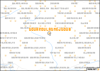 map of Douar Oulad Mejdoub
