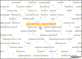 map of Douar Oulad Mimoun