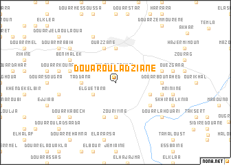 map of Douar Oulad Ziane