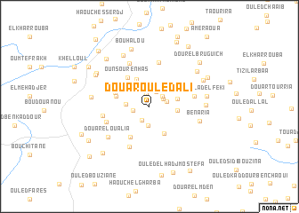 map of Douar Ouled Ali