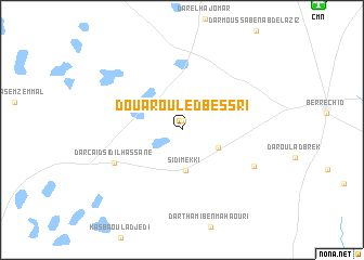 map of Douar Ouled Bessri