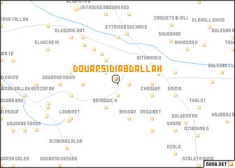 map of Douar Sidi Abdallah