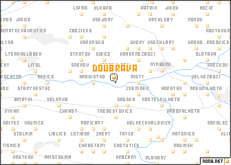 map of Doubrava
