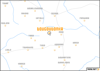 map of Dougoudonkâ