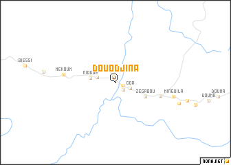 map of Douodjina