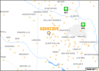 map of Dove Cove