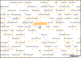 map of Doveren