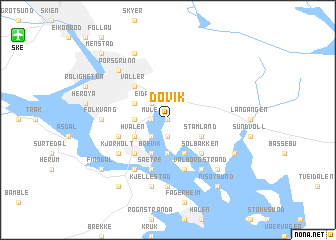 map of Døvik