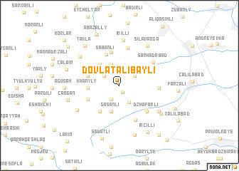 map of Dövlǝtǝlibǝyli