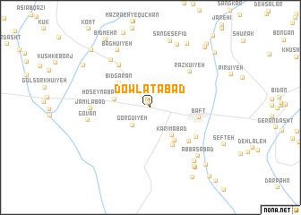 map of Dowlatābād