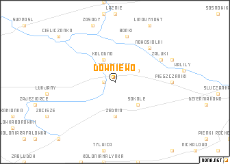 map of Downiewo