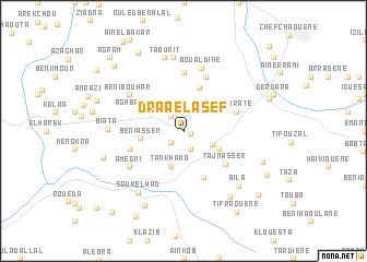 map of Drâa el Asef