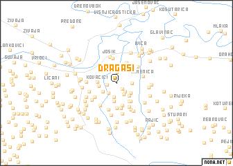map of Dragaši