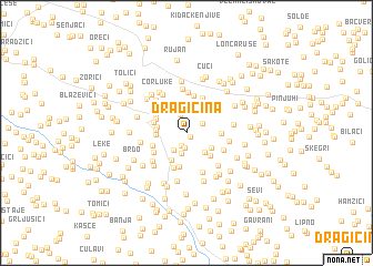 map of Dragičina