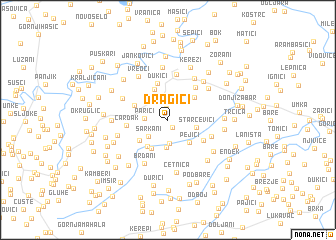 map of Dragići