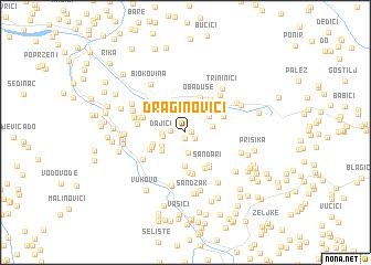 map of Draginovići