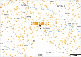 map of Dragojevići