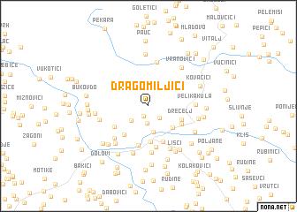 map of Dragomiljići