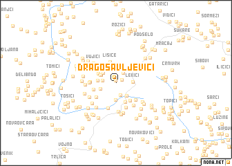map of Dragosavljevići