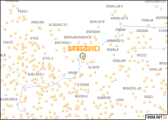 map of Dragovići