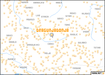 map of Dragunja Donja