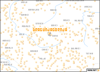 map of Dragunja Gornja