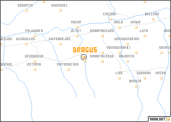 map of Drăguş