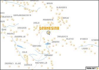 map of Dramešina