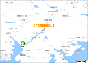 map of Drangsholt