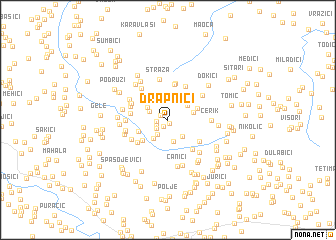 map of Drapnići