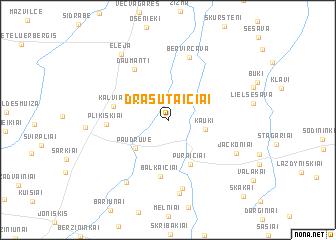 map of Drąsutaičiai