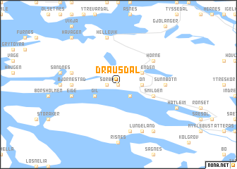 map of Drausdal