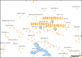 map of Draženovići