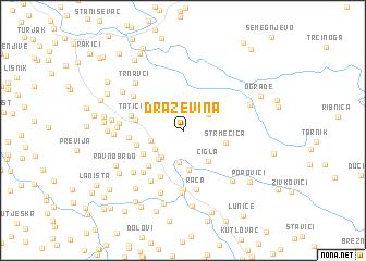 map of Draževina