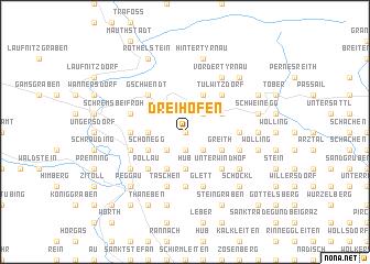map of Dreihöfen